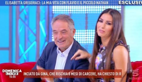 Elisabetta Gregoraci e il papà
