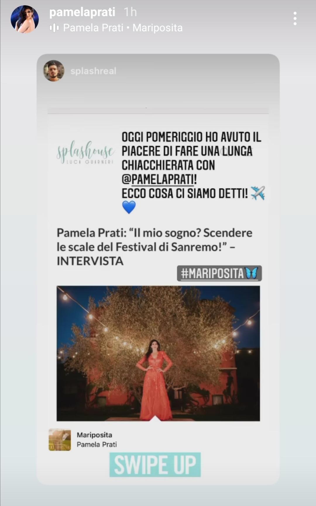 Pamela Prati a Sanremo