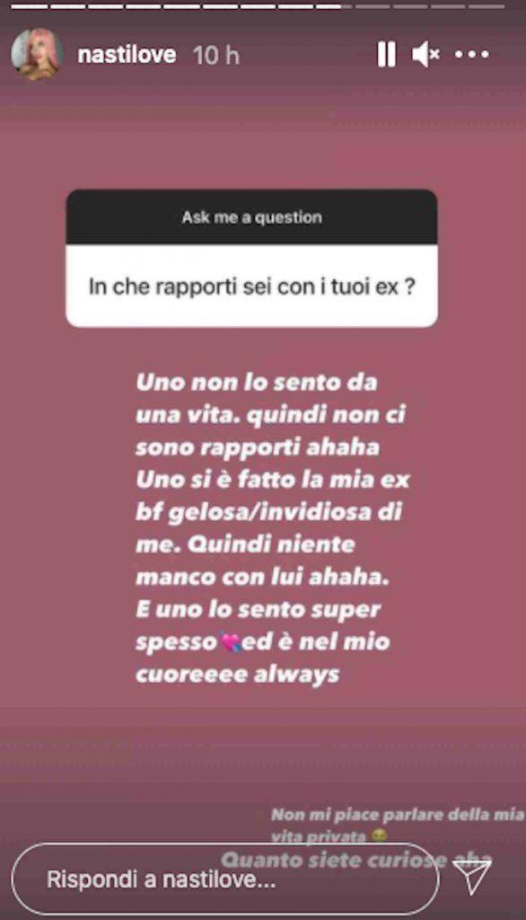 Chiara Nasti ex ragazzi