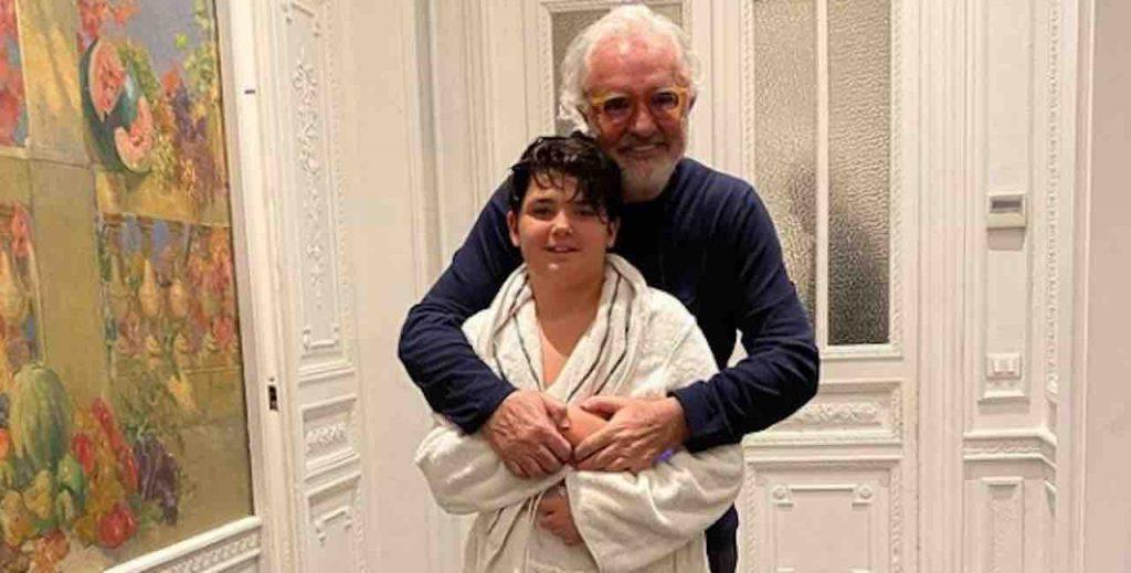 Flavio Briatore e figlio partenza