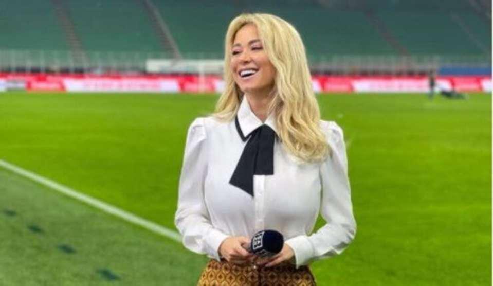 Leotta in diretta dallo stadio (Instagram)