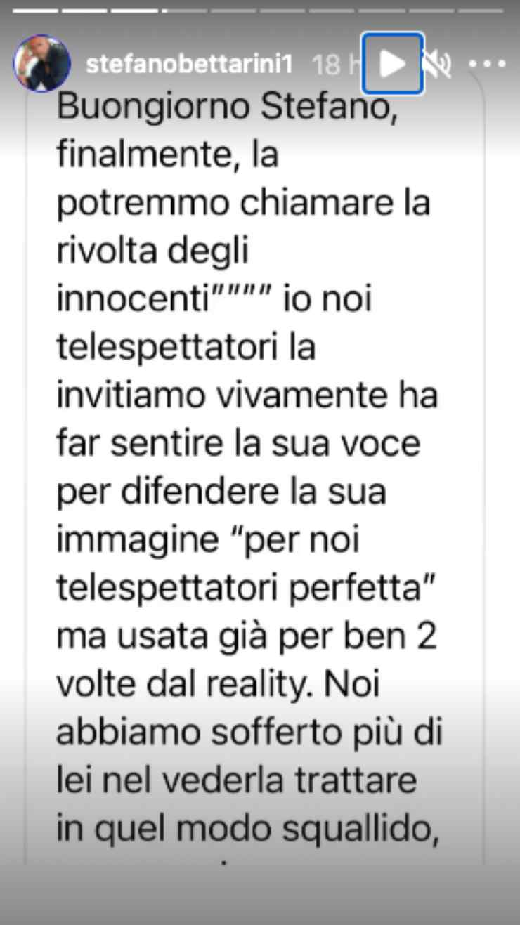 Stefano Bettarini intervista shock