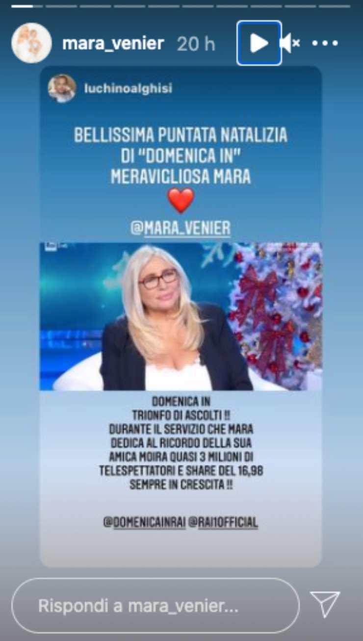 Mara Venier regina circo