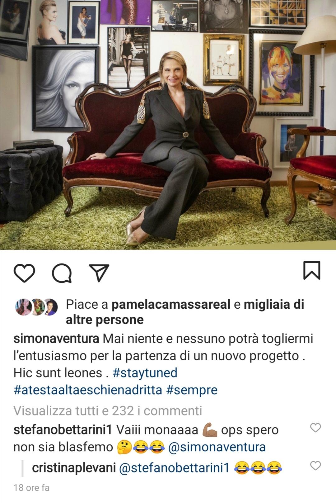 Stefano Bettarini e il messaggio a Simona Ventura