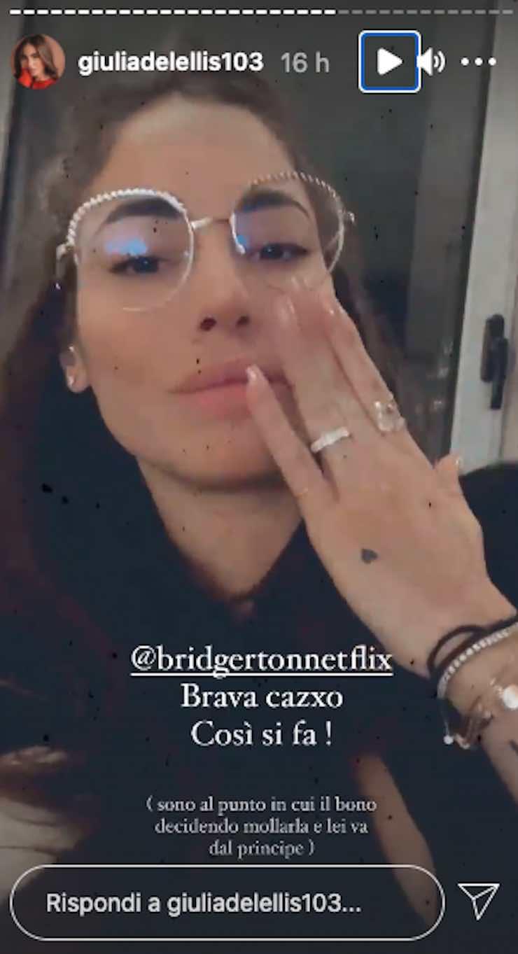 Giulia De Lellis incavolare fidanzato