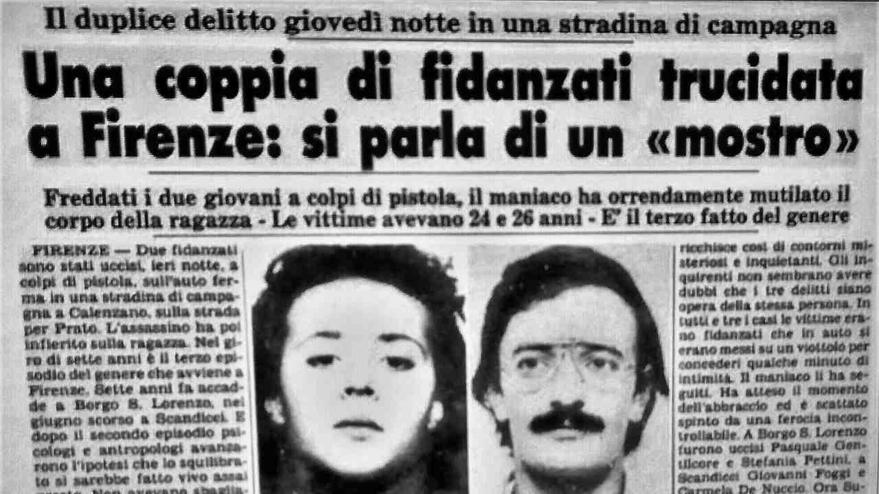 Mostro di Firenze prima pagina