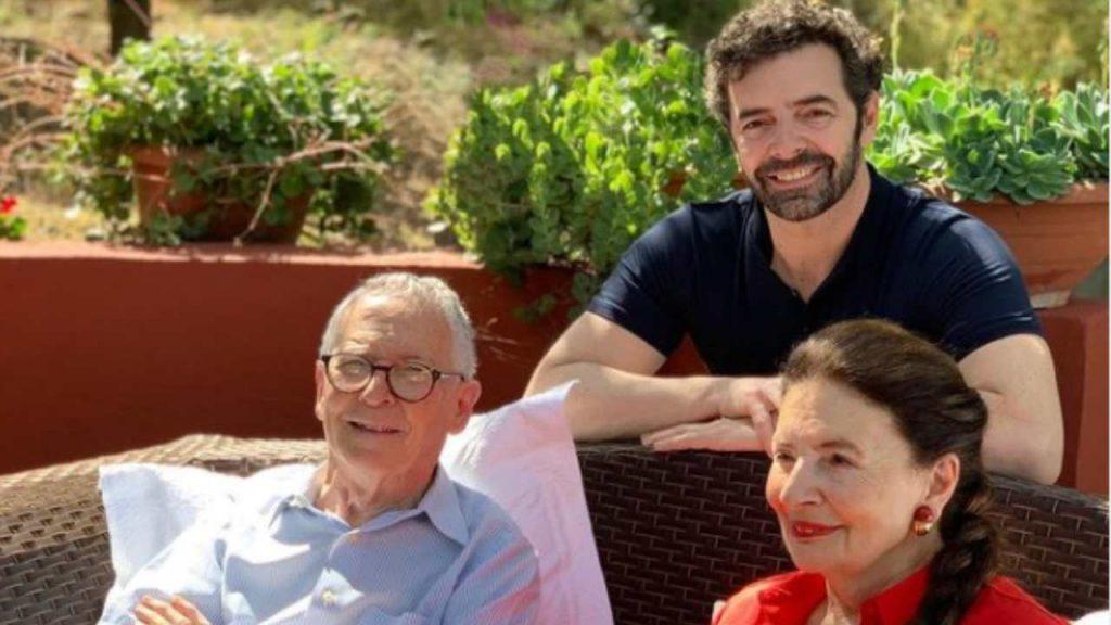 Alberto Matano e la famiglia