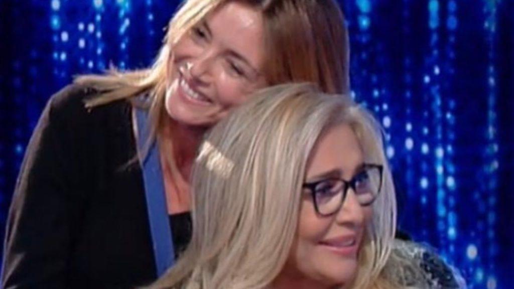Elisabetta Ferracini e Mara Venier