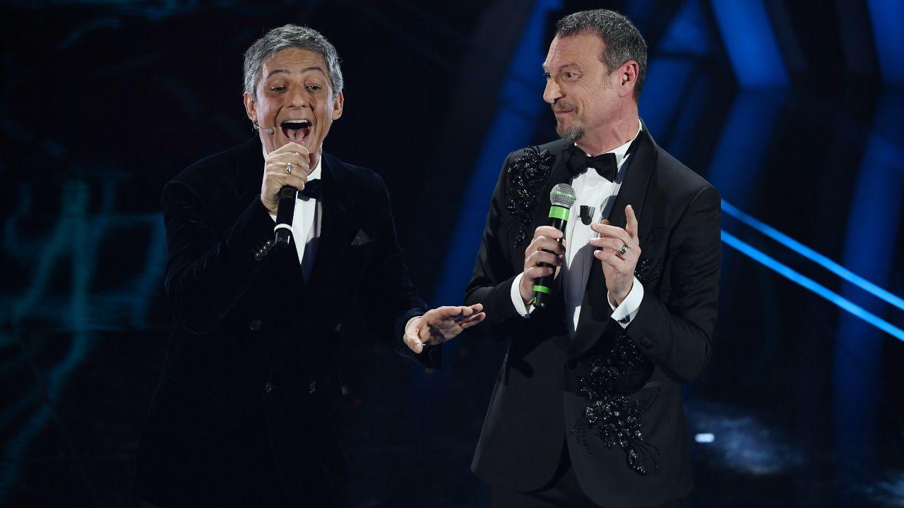 Amadeus e Fiorello a Sanremo