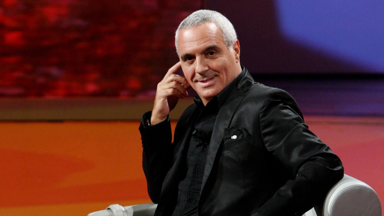 Giorgio Panariello in studio