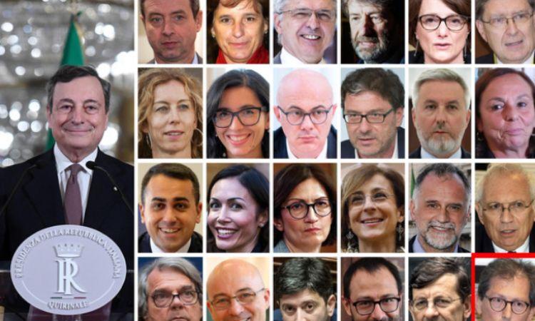 La squadra del governo Draghi