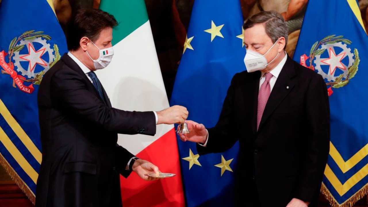 Mario Draghi e Conte (GettyImages)