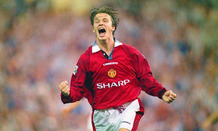 Beckham dopo un goal segnato
