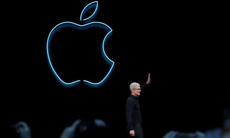 Simbolo della Apple a muro