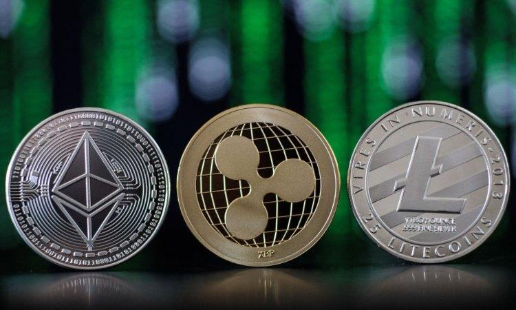 Le monete digitali di ETH, XRP, LTC