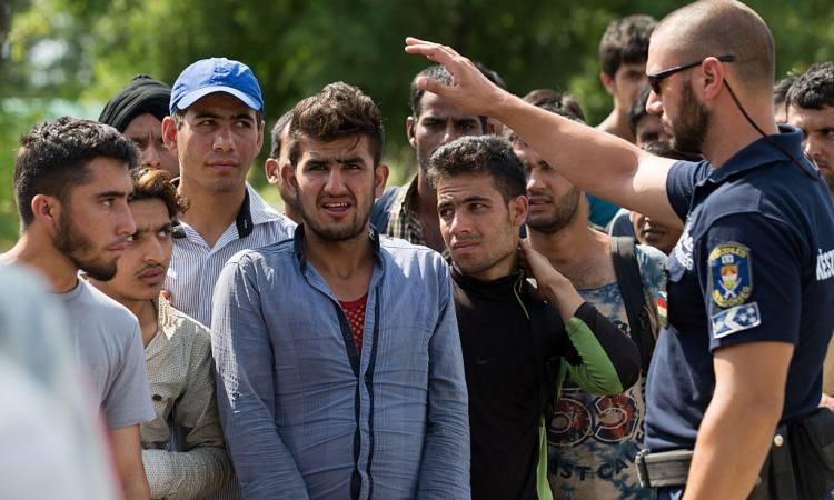 Agente ungherese e migranti