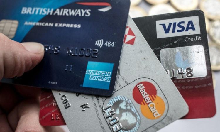 Le carte di credito di American express, Visa e Mastercard