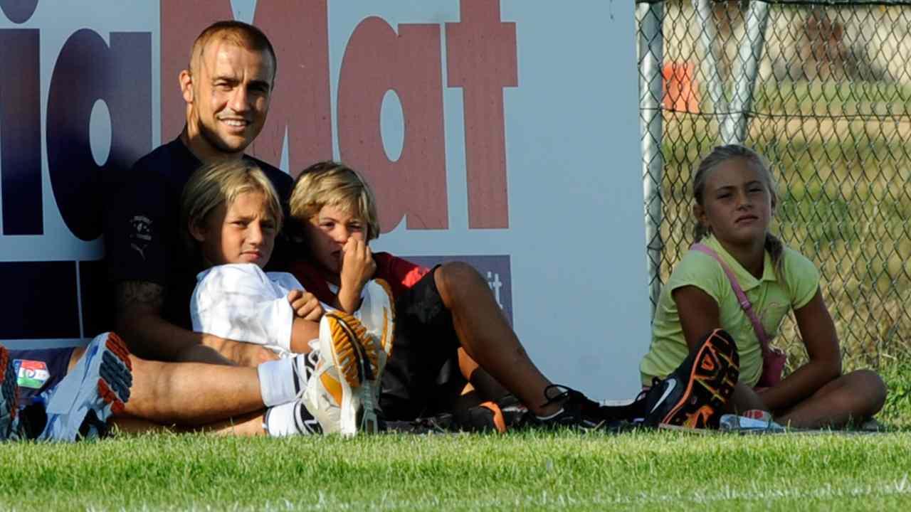 Fabio Cannavaro ed i figli