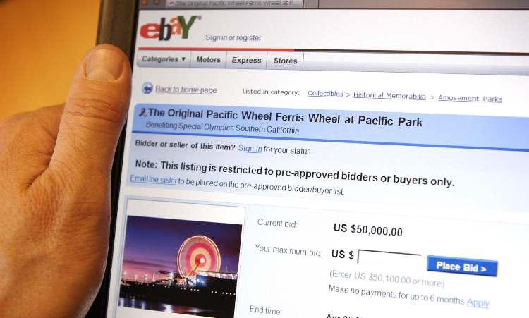 la piattaforma eBay