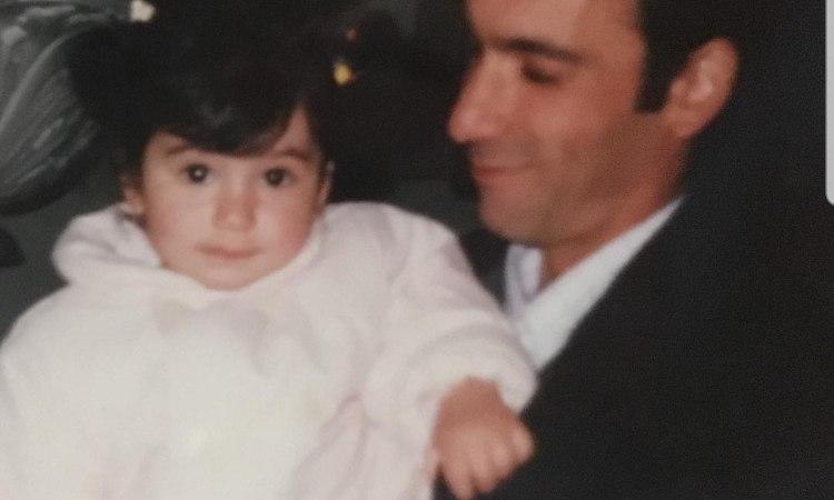 Martina Miliddi da piccola con suo padre