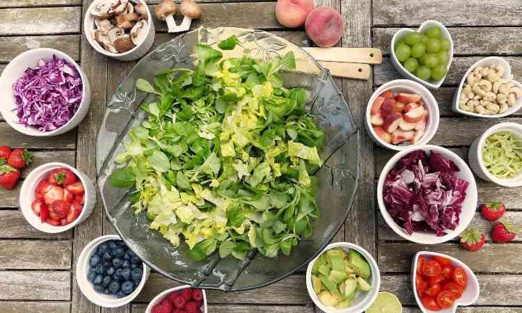 verdure e frutta per la dieta