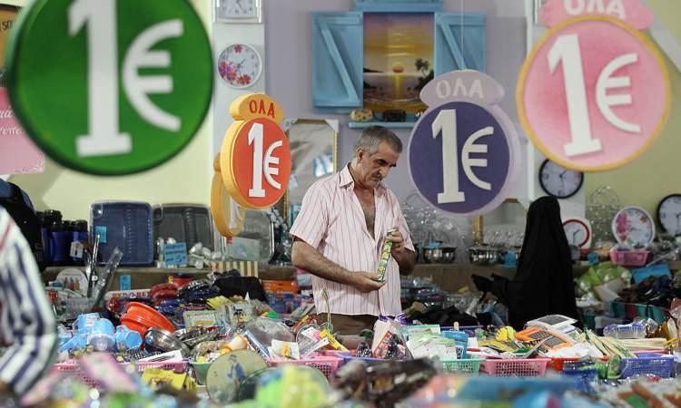 Alcuno insegne mostrano la scritta un euro