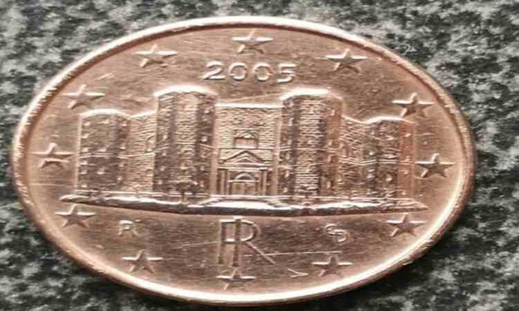 Dritto della moneta da un centesimo rara