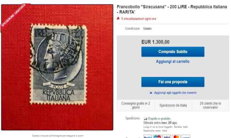 Francobollo da 200 lire