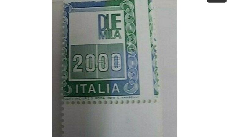 I§l francobollo da più di 2000 euro