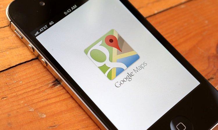 Il simbolo di Maps su un cellulare