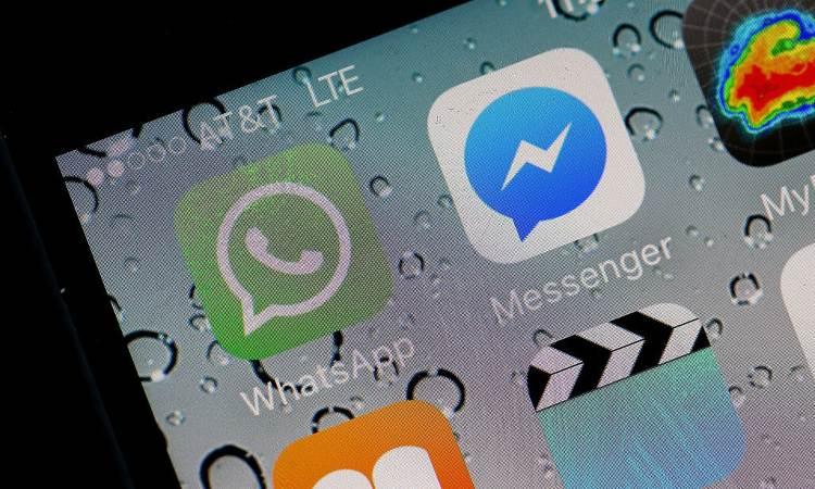 Il logo di Whatsapp e quello di Messenger