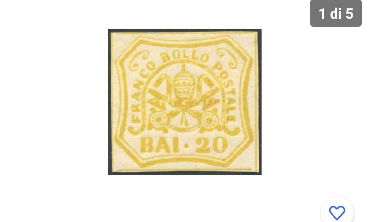 Il francobollo dello stato pontificio