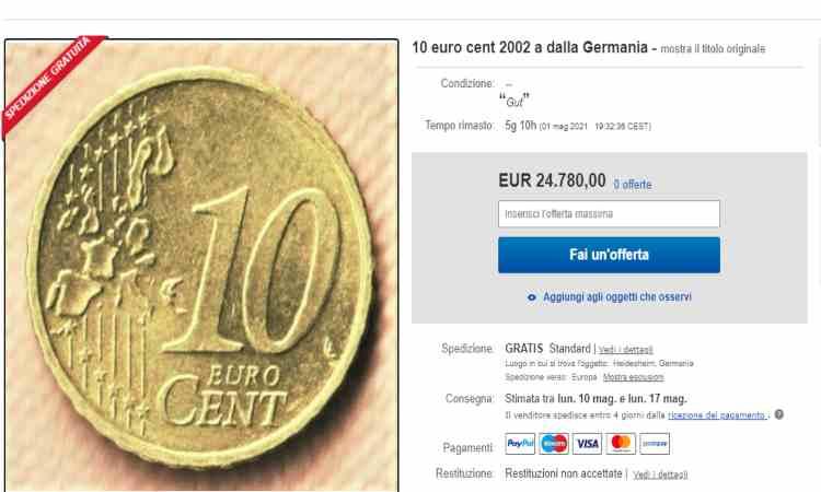 Moneta da dieci centesimi