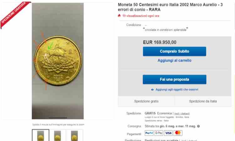 Moneta da cinquanta centesimi