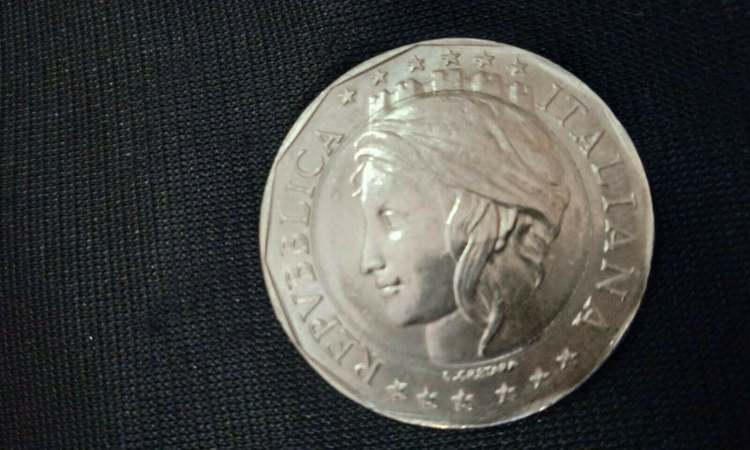 Moneta da mille lire con doppio errore di conio