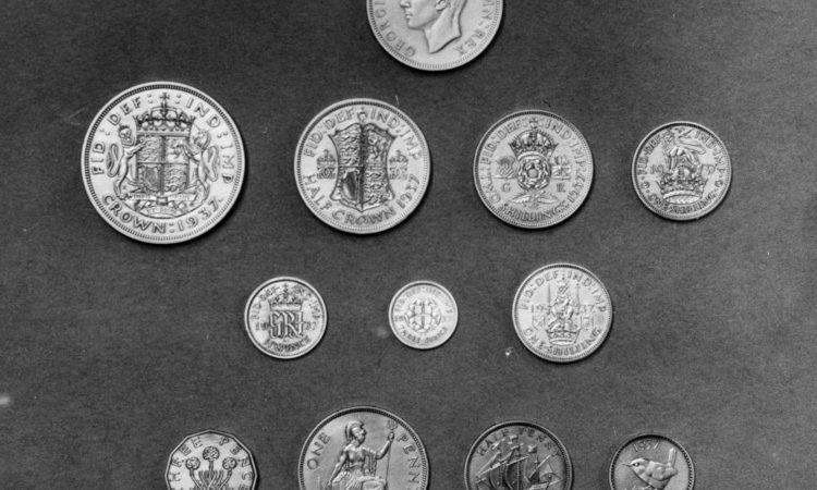 Alcune monete utilizzate in Inghilterra