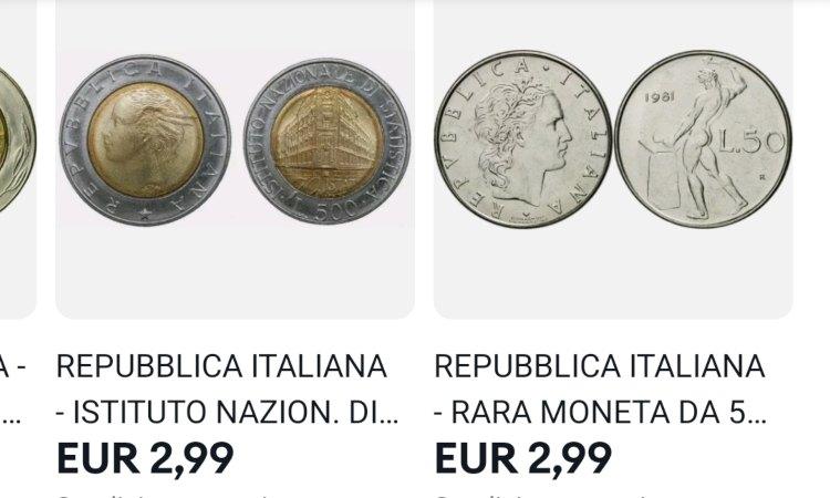 Alcune monete con una quotazione bassa