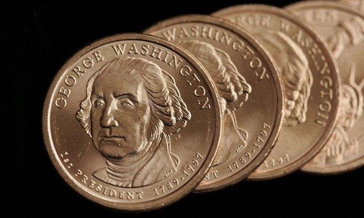 Delle monete dorate dedicate a George Washington