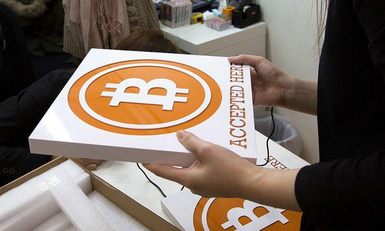 Una scatola con sopra il simbolo dei BTC