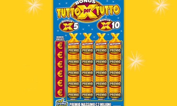 Un gratta e vinci da 10 Euro con 2 milioni di vincita