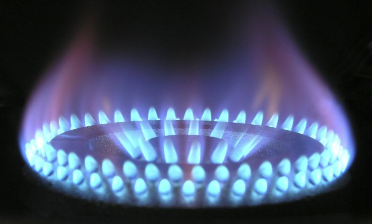 il gas dei fornelli della cucina