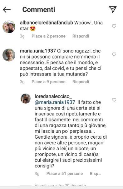 Commenti al post di Jasmine Carrisi
