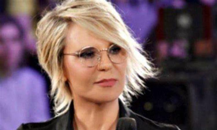Maria De Filippi occhiali chiari