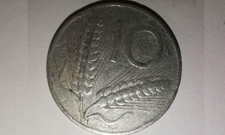 moneta da 10 lire rara del 1953