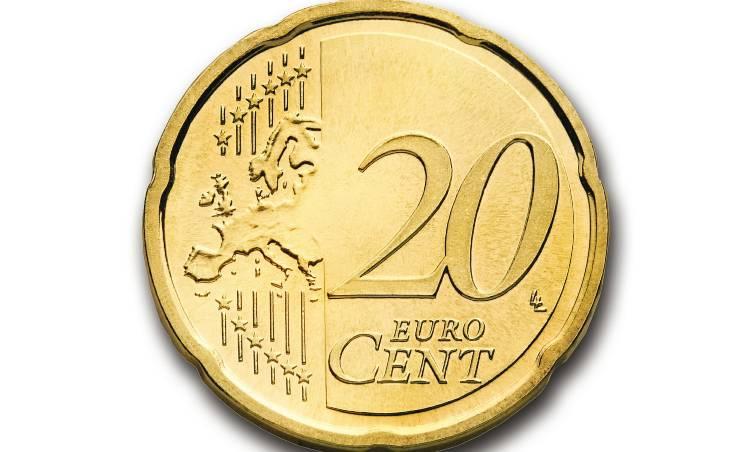 moneta da 20 centesimi di euro lato rovescio