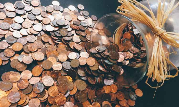 monete di metallo collezionate