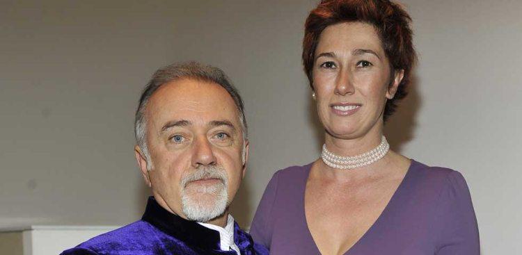 Giorgio Faletti e Roberta Bellissini sorridono