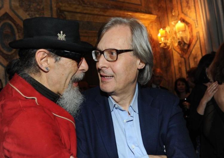 Vittorio Sgarbi e Roberto D'Agostino
