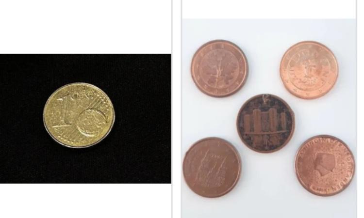 Un po' di monete europee in centesimi