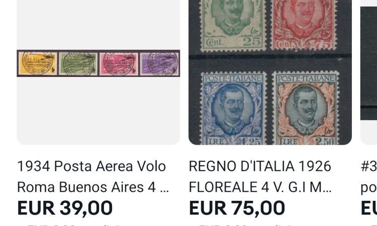 Dei francobolli con una quotazione bassa